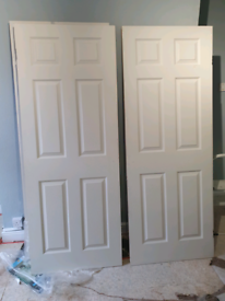 6 panel white internal door