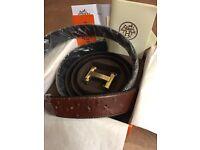 Hermes belt brown