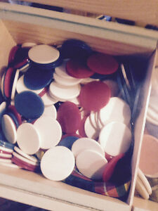 VINTAGE ww2 poker chips