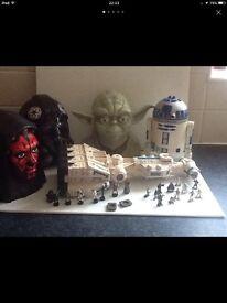 Vintage Star Wars micro playsets bundle figures etc