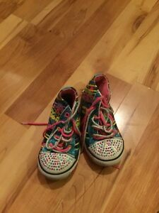 Size 7 Girls Twinkling Toe Skechers