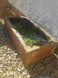 Antique Glazed Stone Garden Sink