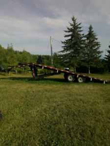 Hydraulic Flat Deck Tilt And Load Trailer, Float