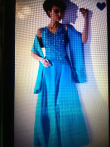 Evening Dress Size large to X-large about a size 14.