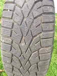 Gislaved Nordfrost 100 94T XL 205/55/16 (tires and steel rims) Kitchener / Waterloo Kitchener Area image 1