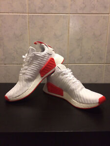 Adidas NMD R2 PrimeKnit in Red/White Size 10 Mens