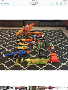13 Nerf guns and more!!