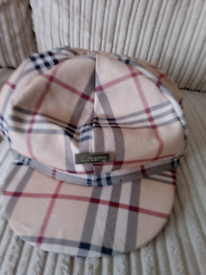 Burberry peak cap ideal for worm or chilly mornings