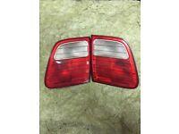 Pair of Mercedes e class rear boot lights