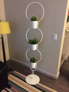 IKEA Plant stand with 3 plant pot