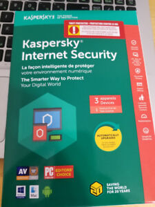 BRAND NEW KASPERSKY INTERNET SECURITY 3 DEVICES FOR 1 YEAR