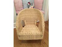 IKEA children's wicker armchair