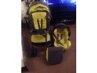 Graco one click travel system pram pushchair car seat complete set