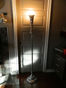 a very different floor lamp and a table floor lamp