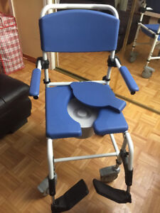 Shower Commode Chair with Wheels Used Once