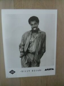 BILLY OCEAN Official 8x10 Black & White Press Photo.