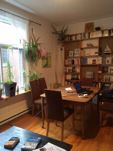 sunny JULY sublet $490 all incl. w/ neg. end dates-OUTREMONT