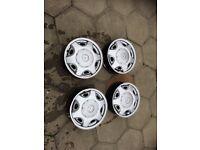 4x100 mk3 Astra steel wheels with centres (Corsa,nova,cavalier