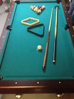 Pool Table with everything you need to play