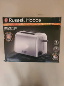 Brand new russell hobbs brushed 2 slice toaster