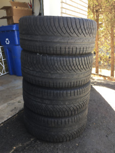 Set (4) Michelin Pilot Alpin 245/40R18 97V (used)