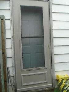 Tan Aluminum Storm Door