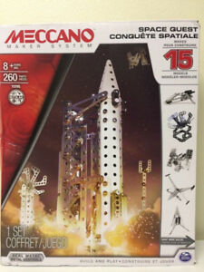 NEW MECCANO Space Quest 260 pcs Built Maker System - 15 models