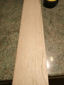 "White oak LAMINATE worktop up stand 4x lengths 7'-6"" each(229cm)"