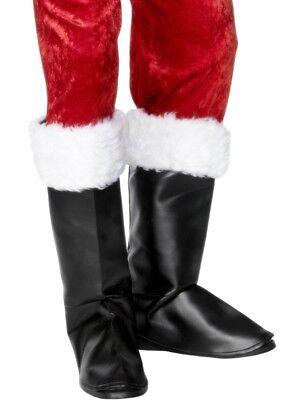 Nikolausstiefel Bootcovers Stiefel Überzieher zum Nikolaus Santa (Santa Kostüme Stiefel)