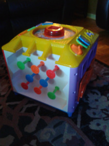 Peak a boo blocks and activity cube