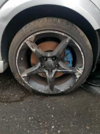 "Set of 4 18"" inch black penta Vauxhall Astra mk5 alloy wheel rim"