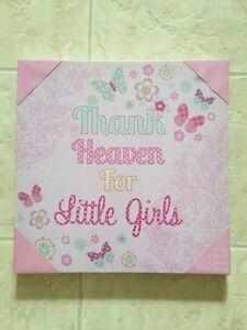 """Thank Heaven for Little Girls"" Canvas"