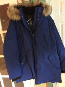 Brand new Ladies Blue Hooded Alpinetech Jacket Size 2x