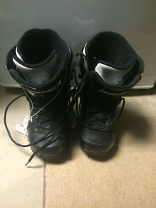 Black Ride Snowboarding boots Size 10.5 Mens