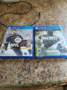 Call of duty infinite warfare et NHL 17