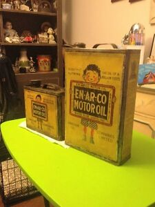 RARE ENARCO & RED INDIAN OIL CANS FOR SALE