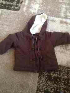 6 month Brown fleece coat Kitchener / Waterloo Kitchener Area image 1