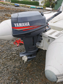 25hp yamaha autolube short shaftoutboard boat engine
