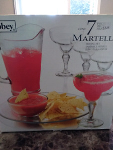 Libbey 7 pc  Martello serving set. Brand New