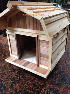 Dog houses 3 sizes lg  $325  XL $375 XXLG $450 insulated / cedar