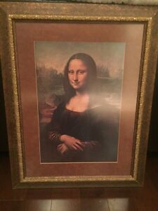Moving sale Mona Lisa replica  Cambridge Kitchener Area image 1