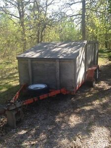 13 foot enclosed double axle trailer