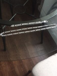 Silver chain and bracelet for sale $130 or best offer