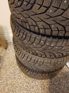 Studded Gislaved 195 65 R15 95tms winter tires