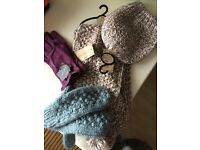 Selection of hats, gloves and scarf