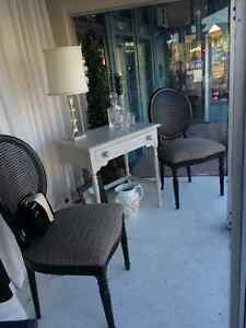 Beautiful pair of cane back chairs at The Vintage House Windsor Region Ontario image 1