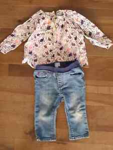 Baby Gap Blouse and Jeans