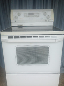 "FREE Delivery 30"" White  glass top Stove"