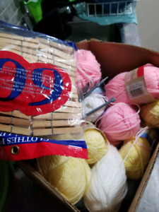 FULL BOX OF KNITTING SUPPLIES