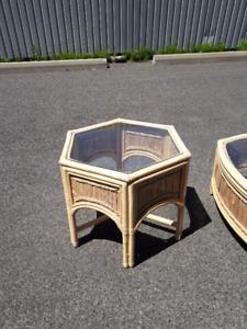 table basse en bamboo